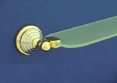 Rába 62 cm-es üveg polc (króm-arany)
