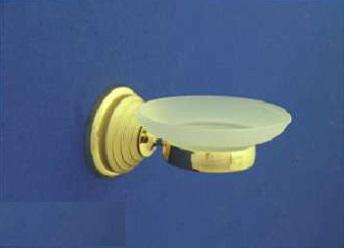 Rába Üveg szappantartó, tartóval (arany-matt arany)