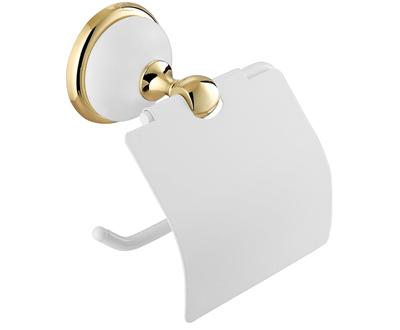 Szamos WC papír tartó (arany-fehér porcelán)