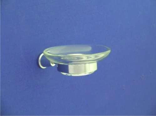 Maros Üveg szappantartó, tartóval (króm)