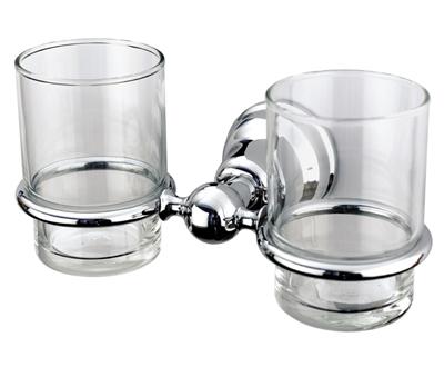 Duna Kettős fogmosó pohár, tartóval (króm)