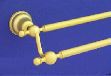 Duna 45 cm-es kettős törülköző tartó (arany/matt arany)