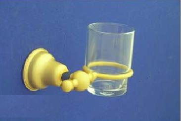 Duna Fogmosó pohár, tartóval (arany/matt arany)