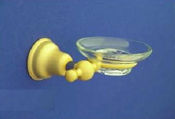 Duna Üveg szappantartó, tartóval (arany/matt arany)