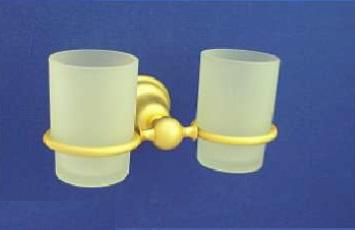 Duna Kettős fogmosó pohár, tartóval (arany/matt arany)