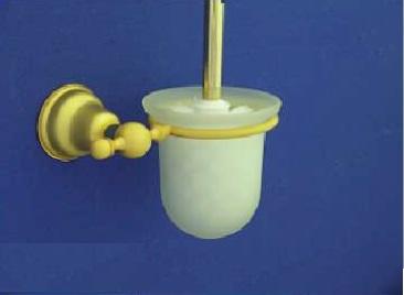 Duna WC kefe, tartóval (arany/matt arany)