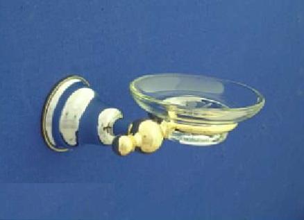 Duna Üveg szappantartó, tartóval (arany/króm)