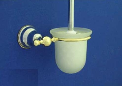 Duna WC kefe, tartóval (arany/króm)