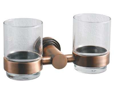 Koppány Kettős fogmosó pohár, tartóval (bronz)