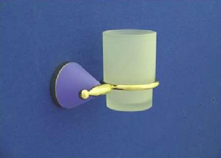 Nyitra Fogmosó pohár, tartóval (arany-kék)