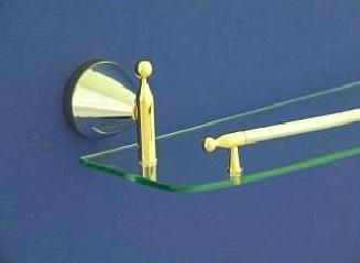 Nyitra 56 cm-es üveg polc (arany-króm)